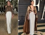 Jessica Biel In Ralph Lauren Collection - 2017 Vanity Fair Oscar Party