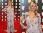 Julia Stiles In Maria Korovilas- 2017 BAFTAs