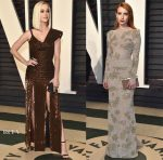 Katy Perry In Jean Paul Gaultier & Emma Roberts In Armani Privé - 2017 Vanity Fair Oscar Party