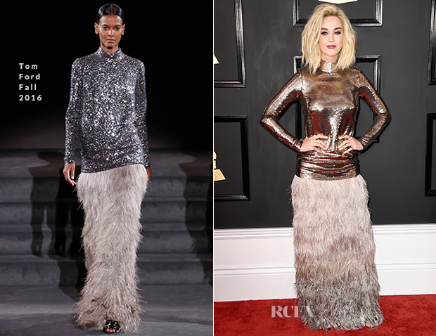 Katy Perry In Tom Ford 2017 Grammy Awards