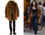 Kim Kardashian's  Coach 1941 reversible sheep shearling coat