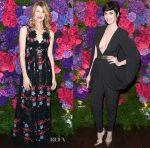 Laura Dern & Paz Vega In Elie Saab - Bvlgari Pre-Oscar Dinner