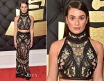 Lea Michele In Roberto Cavalli Couture - 2017 Grammy Awards