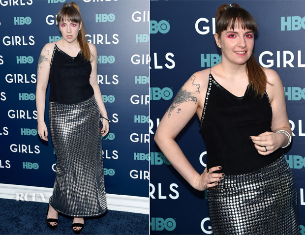 Lena Dunham In Todd Oldham - 'Girls' Season 6 New York Premiere