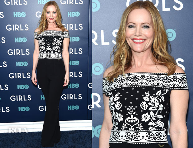 Leslie Mann In Alexander McQueen - 'Girls' Season 6 New York Premiere