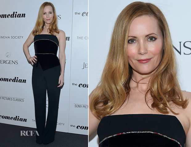 Leslie Mann In Roland Mouret - 'The Comedian' New York Screening