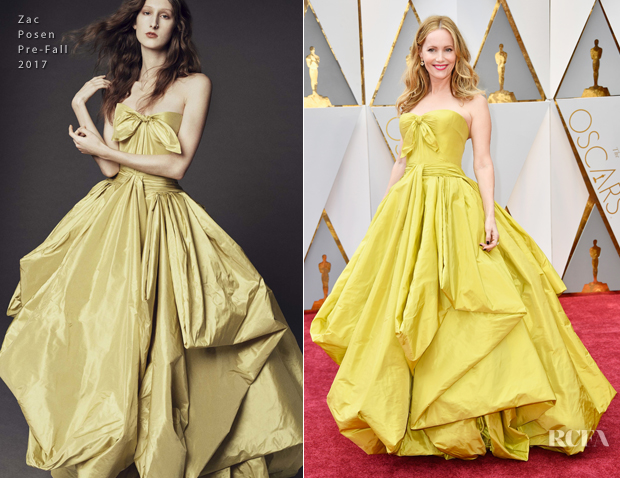 Leslie Mann In Zac Posen - 2017 Oscars - Red Carpet Fashion Awards
