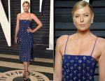 Maria Sharapova In David Koma - 2017 Vanity Fair Oscar Party