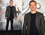 Michael Fassbender In Canali - 'Assassin's Creed' Stage Greeting In Tokyo