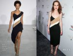 Michelle Dockery In David Koma - Cadillac Celebrates Oscar Week