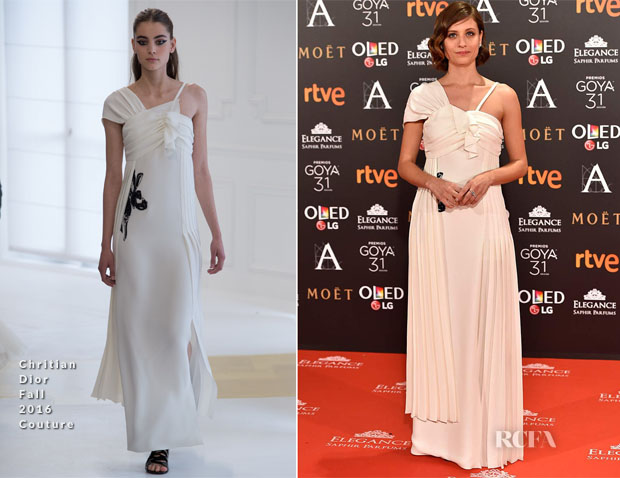 Michelle Jenner In Christian Dior Couture - 2017 Goya Awards