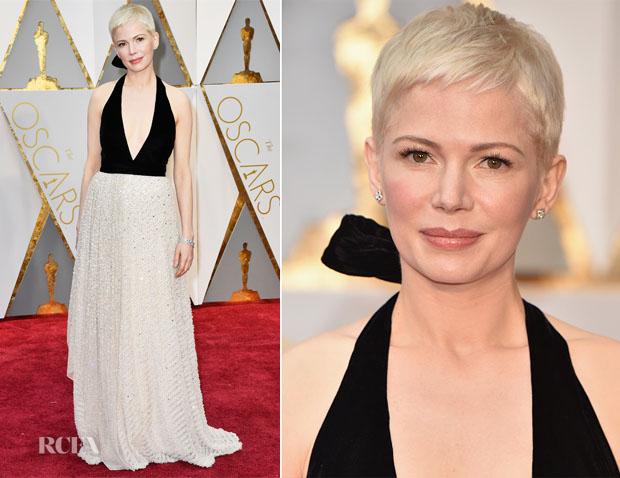 0fc86fdb94b4 Michelle Williams In Louis Vuitton - 2017 Oscars - Red Carpet ...