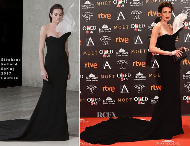 Nieves Alvarez In Stéphane Rolland Couture - 2017 Goya Awards