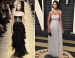 Nina Dobrev In Christian Dior - 2017 Vanity Fair Oscar Party