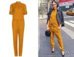 Olivia Culpo's Victoria Beckham wool jumpsuit