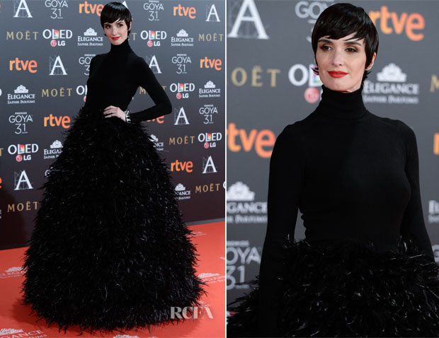 Paz Vega In Jorge Acuña - 2017 Goya Awards