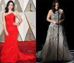 Sara Bareilles In Romona Keveza, Antonio Grimaldi Couture & Maria Lucia Hohan - 2017 Oscars
