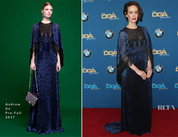 Sarah Paulson In Andrew Gn - 2017 Directors Guild Of America Awards