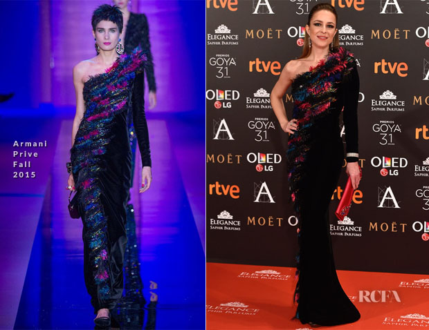 Silvia Abascal In Armani Prive - 2017 Goya Awards