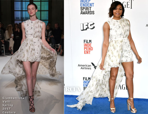 80fd09a1da Taraji P. Henson had a light new outlook at the 2017 Film Independent  Spirit Awards on Saturday (February 25) in Santa Monica, California.