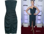 Vita Sidorkina's Carmen March strapless ruched crepe dress