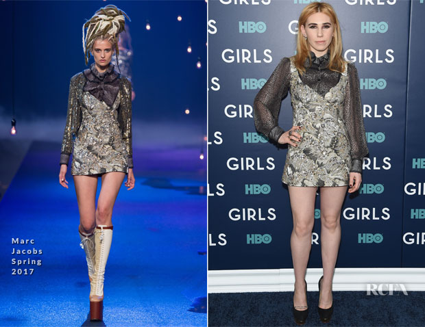 Zosia Mamet In Marc Jacobs - 'Girls' Season 6 New York Premiere