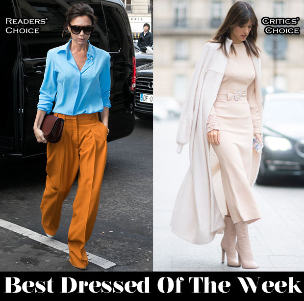 Best Dressed Of The Week Victoria Beckham In Victoria Beckham & Alessandra Ambrosio In Alessandra Rich and Talbot Runhof