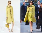 Amal Clooney In Bottega Veneta - United Nations Headquarters