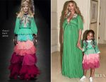 Beyonce Knowles In Gucci - 'Beauty And The Beast' LA Premiere