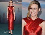 Brie Larson In Oscar de la Renta - 'Kong: Skull Island' LA Premiere