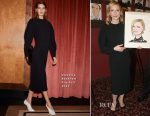 Cate Blanchett In Victoria Beckham - Caricature Unveiling At Sardi's In New York