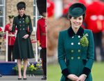Catherine, Duchess of Cambridge In Catherine Walker - St. Patrick's Day With The Irish Guards In London
