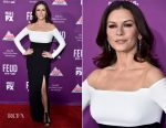 Catherine Zeta Jones In Rhea Costa - Premiere Of FX Network's 'Feud: Bette And Joan'