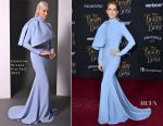 Celine Dion In Christian Siriano - 'Beauty And The Beast' LA Premiere
