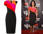 Demi Lovato's Mugler colour-block dress