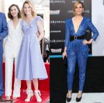Elizabeth Banks In Self-Portrait & Zuhair Murad Couture - Hollywood Walk of Fame for Haim Saban & 'Power Rangers' LA Premiere