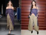 Emily Ratajkowski In Monse - Cocktail Reception For The LVMH PRIZE 2017