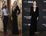 Halston Sage In Roberto Cavalli - 'Before I Fall' LA Premiere