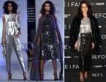 Jennifer Beals In Rohit Gandhi + Rahul Khanna & Tadashi Shoji- 'Before I Fall' New York Special Screening