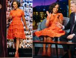 Kerry Washington In Elie Saab - The Late Late Show With James Corden