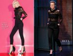 Kristen Bell In Zuhair Murad - Late Night with Seth Meyers