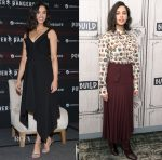 Naomi Scott In Preen, Burberry, Dion Lee, Giorgio Armani & Chanel - 'Power Rangers' Promo Tour