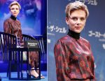 Scarlett Johansson In Haney - 'Ghost In The Shell' Tokyo Press Conference