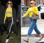 Who Wore Alberta Ferretti's Thursday Sweater Better? Gigi Hadid or Diane Kruger?