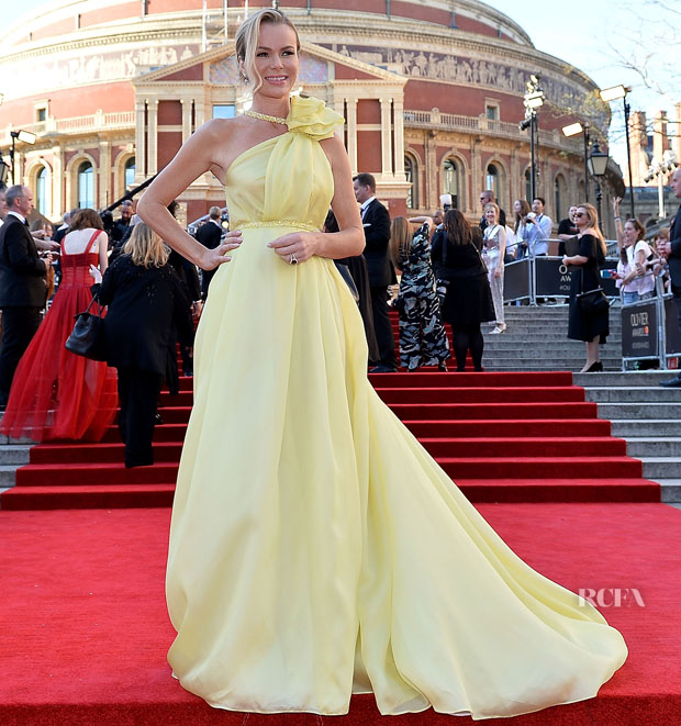 Amanda Holden In Celia Kritharioti - 2017 Olivier Awards - Red ... 52762e863eb