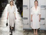 Amanda Peet In Bottega Veneta - Build Series Discussion: 'Brockmire'