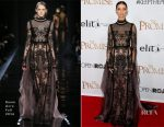 Angela Sarafyan In Reem Acra - 'The Promise' LA Premiere