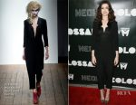 Anne Hathaway In Vivienne Westwood Red Label - 'Colossal' LA Premiere