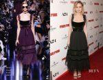 Brie Larson In Elie Saab - 'Free Fire' LA Premiere