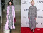 Cate Blanchett In Valentino - 'Manifesto' Tribeca Film Festival Premiere